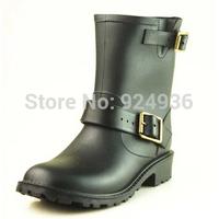Free Shipping Fashion Tainboots Low Heels Waterproof Women Wellies,Rain Boot,Woman Waterproof Shoes Rubber Shoes