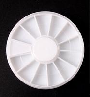 10pcs Nail Art Empty Storage Wheels For Nail Art Rhinestones Beads Slices Nail Storage Box