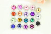 100PCS/lot 19colors pearl rhinestone button diamante wedding embellishment hair flower DIY accessory wholesale