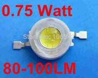 Free Shipping 200pcs/lot 0.75 Watt Taiwan Chip 80-100lm Power LED