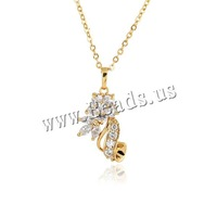 Free shipping!!!Brass Necklace,clearance sale with free shipping, 18K gold plated, oval chain & with cubic zirconia, nickel