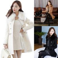 2014 Hot Selling New winter coat Korean Women Slim woolen cashmere wool coat winter coat cheap casacos femininos women's coats