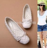 Stylish and comfortable soft flats rectangular  bowknot women flats heel shoes size 35-41