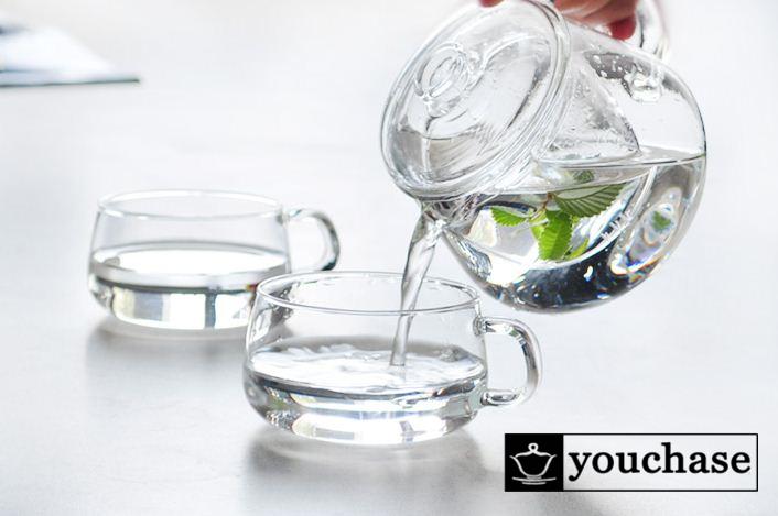 Simple glass teaset, 400ML- 500ML glass teapot + 2* 230ml cups, elegant and brief design glass tea set(China (Mainland))