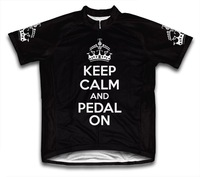 road cycling/Keep Calm and Pedal On Short Sleeve Cycling Jersey bike/bicycle/ropa ciclismo jersey/clothing Many Color available
