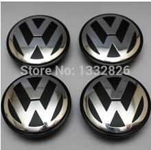 4pcs 65mm VW centro de la rueda tapa tapacubos Para Volkswagen Logo insignia emblemas EOS Golf Jetta Passat B6 Mk5 VW 3B7 601 171 1(China (Mainland))