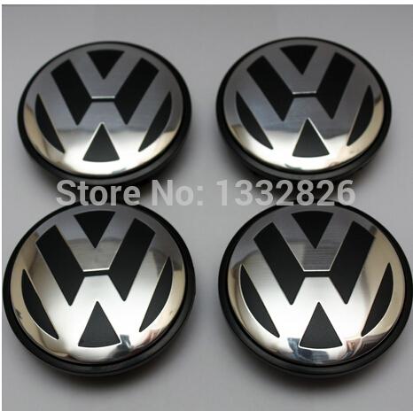 4pcs 65mm VW wheel center cap hub cap For Volkswagen Logo badge emblems EOS Golf Jetta Mk5 Passat B6 VW 3B7 601 171 1(China (Mainland))