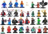 Decool Building Blocks Super Heroes Avengers figures Fantastic Four Deadpool Superman Captain America toys