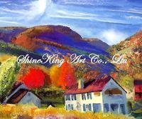 handpainted  impressional landscape oil painting on canvas fine art home decor FJI2446 50x60cm