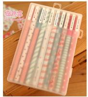 paragraph of stationery fresh polka dot stripe multicolour unisex pen - 10pcs/set(mixture)