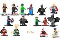 Decool Building Blocks Super Heroes Avengers figures Deadpool Superman Loki Batman Captain America toys Compatible With Lego