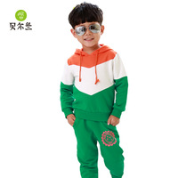 Kids Clothing Set New 2014 Spring Korean boys and girls children's sweater suit leisure clothing sets