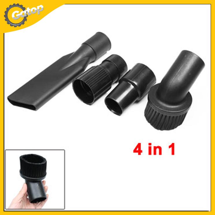 Vacuum Cleaner Car Vacuum Dust 4 In 1 Automobile Vacuum Cleaner Black Plastic Kit Attachment Tool for Car Vacuum Cleaner Hot!(China (Mainland))