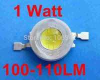 Free Shipping 100pcs/lot 1 Watt Taiwan Chip 100-110lm Power LED
