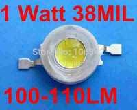 The Best Price 200pcs/lot 1 Watt Taiwan Chip 100-110lm Power LED