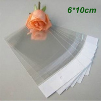 6cm*10cm Clear Self Adhesive Seal Plastic Bag OPP Poly Bag Retail Packaging Bag With Hang Hole Wholesale 1000Pcs/Lot