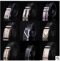 Free shipping 2014 Men's leisure110- 120cm Belt,man pure leather belt, casual and korean type, automatic buckle belts, widened