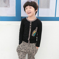 Kids Clothing Sets Spring Autumn Winter 2014 new Korean boy leisure suit children's T-shirt + harem pants suit