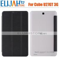 Free Shipping Original Flip Case491  For 8'' Talk 8 Quad Core Cube U27gt Talk8 Tablet PC High Quality 3 colors black/white/blue