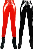 2014 print low time-limited fornt waist shinny four way stretch pvc look rock legging punk fitness woman pants ms leggings