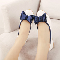 Clothing shoes 2014 spring sweet princess bow flat shoes single shoes flats