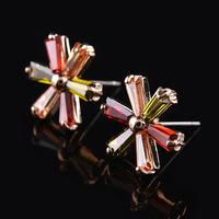Discount !! Stylish Multi Color Austrian crystal Flower Shape Stud Earrings For Women Wedding/Party/Lift
