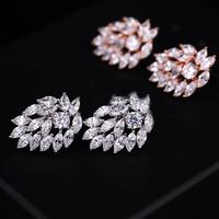 Luxury zircon Jewelry high-end horse eye wholesale Princess Stud Earrings Korean bridal accessories