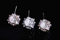 The new Imitation diamond Earrings Cubic Zircon Stud Earrings for men and women models upscale - Quality Guarantee