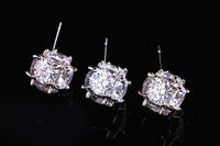 The new Imitation diamond Earrings Cubic Zircon Stud Earrings for men and women models upscale - Quality Guarantee