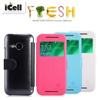 Original Nillkin Brand Fresh Series Ultra Thin Flip Leather Case For HTC One Mini 2 / M8 Mini ,+Retail 10pcs/lot free shipping
