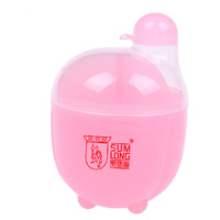 Hot-selling egg-shaped 3 lattice baby milk powder Storage box PP small portable box