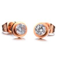 Exquisite gift diamond stud earring fashion brief titanium women's stud earring n628