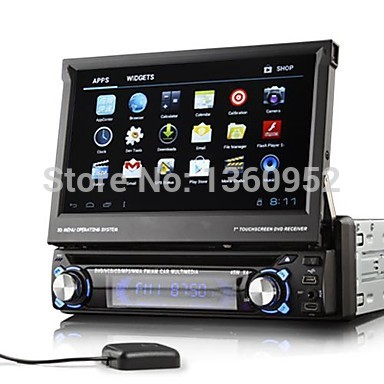 1 Din 7 Inch Screen Android 4.0 Car PC Multimedia DVD Player With Bluetooth 3G Wifi IPOD GPS(China (Mainland))