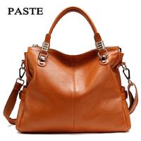 2014 cowskin lady handbag fashion designer women first layer leather messenger handbags luxury brand woman 2P0951 free shipping