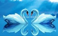 Romantic Gife Diy diamond painting kits 3d diamond rhinestone pasted painting crystal resin diamond BLUE lover swan Heart 40*25