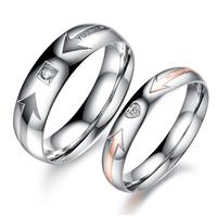 Accessories fashion brief gift diamond ring titanium lovers ring n415