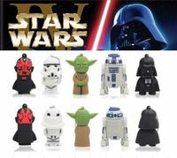 Hot+5 Cartoon pendrive Star Wars memory stick 4GB 8GB 16GB 32GB USB 2.0 flash pen drive pendrives