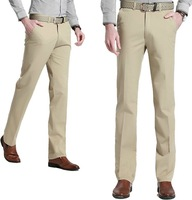 Plus-size 29-40 2014 New Arrival Male casual trousers 100% Cotton Loose comfortable pocket straight Suit pants 4 Colors