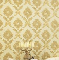 Luxury quality 3d velvet fashion non-woven wallpaper living room tv wall background wallpaper
