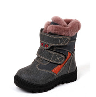 Children boots children shoes wool one piece liner cotton-padded children warm shoes