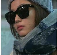 2014 Korean fashion brand Oversized frames metal Sun glasses Gentle monster sun lenses shades Women V logo sunglasses