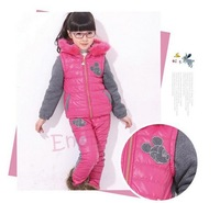 2014 Retail New Winter Girls Clothing Set, Ski Suit Set, Kids Sport Suit, Kids Clothes Sets For Girl, Children Girls Winter Suit
