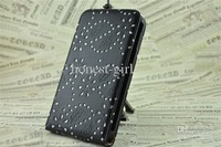 Wholesale - Diamond Maple Leaf Flower Vertical Leather Case Cover For Samsung Galaxy Note i9220 N7000 10PCS/lot