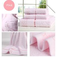 Free Shipping 100% Cotton Solid Color Towel Gift  Towel Set Bath Towel Face Towel Set 70*140cm