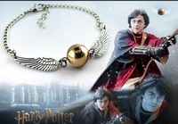 ZH0909 Newest Arrive Movie Harry Potter Quidditch Golden Snitch Pocket Bracelet&bangle