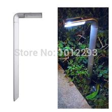 commercio all'ingrosso ! genuine nuova decorazione della casa moderna led accensione automatica delle luci notturne caricatore del pannello solare prato path way luci lampade da giardino(China (Mainland))