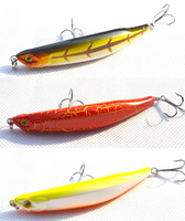 Fishing Lure Crank bait Pencil bait floating Minnow hooks baits 11cm 12g 12 pcs/lot