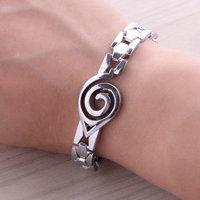 Naruto Cartoon Silver Alloy Charm Bracelet, Naruto Fans Fashion Bangle Accessories