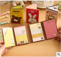 Free shipping Bunny cartoon paper notes Discount multi-size Commercial business gifts School gifts Office essential