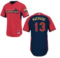 2014 All Star Baseball Jerseys Orioles #13 Machado Jersey Blue Red Color Cool Base Jersey Stitched Size 48-56 Mix Order